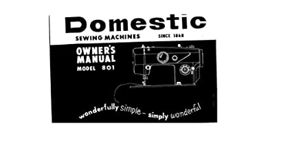 Amazon com: Download Pdf-File Singer W801 Sewimg Machine