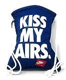 "NIKE HERITAGE DRAWSTRING GYMSACK TOTE ""KISS MY AIRS"" BLUE WHITE BA5431-423"