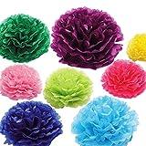 HATABO Artificial Ball Flower Paper Flowers Paper Flower Balls Tissue Paper Pom Poms 1pcs 8inch Artificial Flower Balls Wedding Decoration Paper Balls Party Decor (Random)