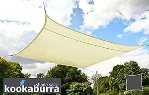 Kookaburra 3.6m Square Ivory Knitted Shade Sail (Knitted) Gazebo Sail Awning Canopy