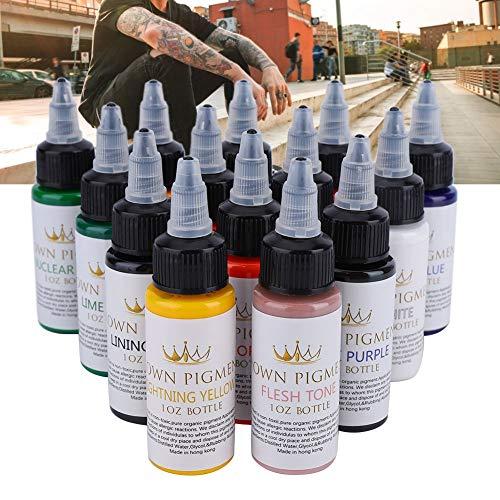 30ml/Bottle 14 Colors Professional Pernament Tattoo Makeup Ink Tattoo Pigment Body Art Inks Set Supply for Tattoo Machine Tattoo Ink