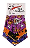 BANDANAS UNLIMITED Tie on Triangle Halloween Bandanas for Small Dogs (3 Pack), 20''