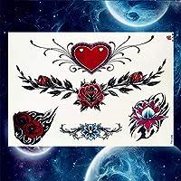 MRKAL Tatuajes Temporales Tulipán Negro Totem Tatuajes Pegatinas ...