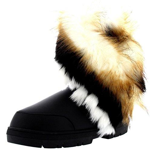 Womens Short Tassel Winter Cold Weather Snow Rain Boots - 10 - BLL41 EA0408