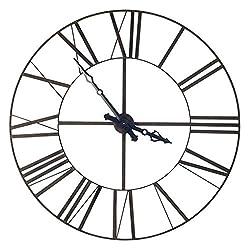 Mercana Iron Pender Oversized Wall Clock, 50.0 x 3.0 x 50.0, Black