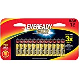 Eveready Gold Alkaline AAA Batteries, 12 Count