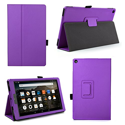 Case for All-New Fire HD 10 2017 - Premium Folio Case for All-New Fire HD 10 Tablet with Alexa 7th Generation (Fire HD 10 (7th Gen), Purple)