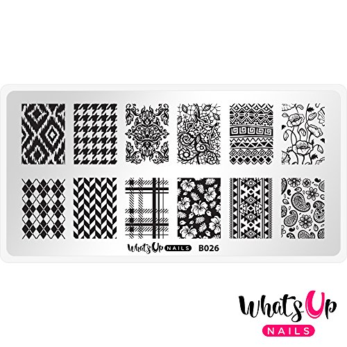 Whats Up Nails - B026 Fashion Prints Stamping Plate for Nail Art Design