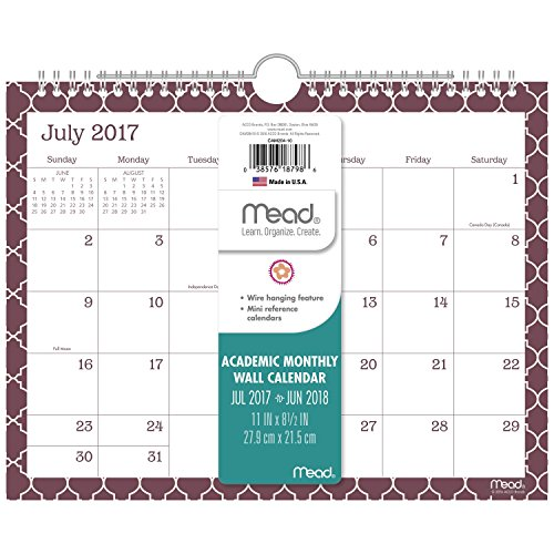 Mead Academic Monthly Wall Calendar
