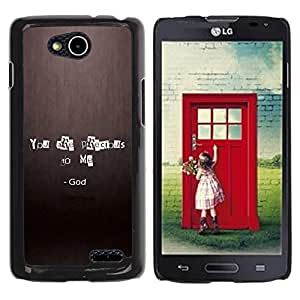 PC/Aluminum Funda Carcasa protectora para LG OPTIMUS L90 / D415 BIBLE You Are Precious To Me - God / JUSTGO PHONE PROTECTOR