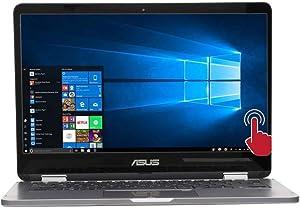 ASUS VivoBook Flip 14-inch Touch Screen Intel Celeron 4GB 128GB eMMC Win 10 S Mode 2-in-1 Laptop