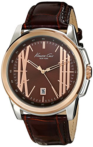 Kenneth Cole New York Men's KC8096 Classic Analog Display Analog Quartz Brown Watch
