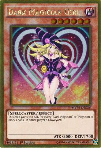 (Yu-Gi-Oh! - Dark Magician Girl (MVP1-ENG56) - The Dark Side of Dimensions Movie Pack Gold Edition - 1st Edition - Gold Rare)
