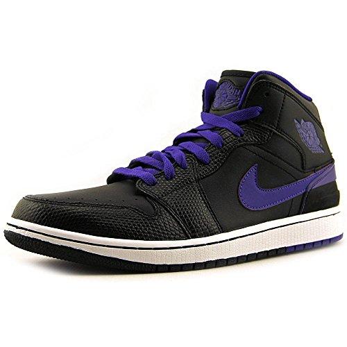 Nike Men's Jordan 1 Retro '86 Black/Dark Concord/White Basketball Shoe 10 Men US (Air Jordan 1 Retro 86 Black White)