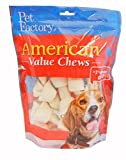 Pet Factory American Beef Hide Bones Chews for Dogs (8 Pack), Small/4-5