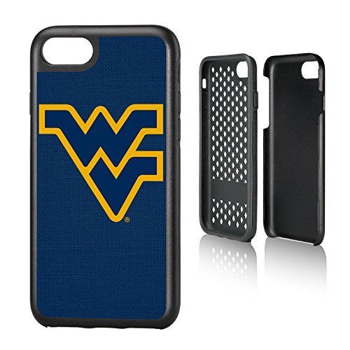 Keyscaper KRGDI7-00WV-SOLID1 West Virginia Mountaineers iPhone 8/7 Rugged Case with WVU Solid Design ()