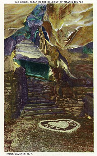 (Howe Caverns, New York - Titan's Temple Balcony View of the Bridal Altar (16x24 SIGNED Print Master Giclee Print w/Certificate of Authenticity - Wall Decor Travel Poster))