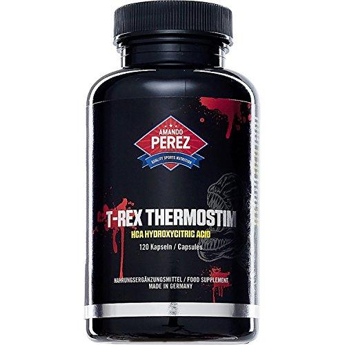 T-REX ThermoStim - Fatburner & Appetitzügler - fettburner muskelmasse muskeldefinition - 120 Kapseln - Fatburner der Giganten mit muskelaufbauenden Eigenschaften