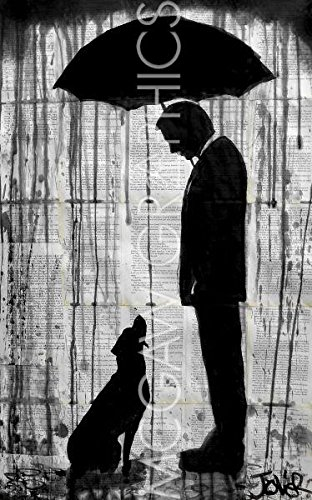 """Old Friend by Loui Jover, Art Print Poster, Paper Size 11"""" x 14"""" Image Size 7.5"""" x 12""""(822)"""