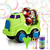 Bubble Machine, Tencoz Bubble Maker Blower with Bubble Solution Automatic Bubble Blowing Toys for Kids Parties Bath Wedding Indoor Outdoor Activities(Car)