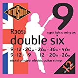 Rotosound R30SL Nickel 12 String Electric Guitar Strings (9 12  9 12 20 26 9 12 20 26 36 46)