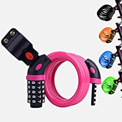 Specifications: 1. Diameter: 1/2 inch (12 mm) with vinyl shell, length 4 feet (1200 mm) 2. Color: black,orange, blue,green,pink 3. Weight: 1 pound 4.Lock Cylinder:Zinc Alloy & ABS Rotating Discs 5.Lock Cable Material:High-quality Stainles...