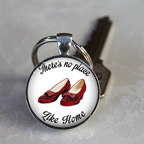 Handmade Key Chain,There's No Place Like Home,Ruby Slippers Key Chain
