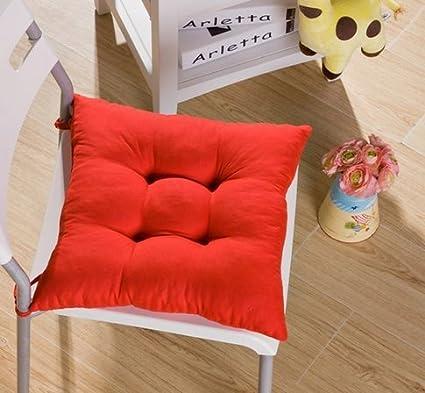 SROVFIDY Sedia a sdraio in morbido Cuscino sedile in cuscino Seduta da giardino 40x40x8cm size 1PCS (Green)