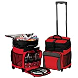 Picnic Rolling Hold 36 Cans Cooler on Wheels- Red Review