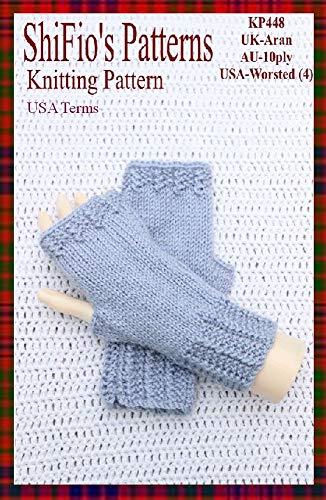 Knitting Pattern - KP448 - ladies fingerless gloves USA Terminology