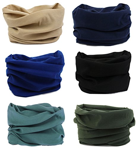 - 6PCS Outdoor Headscarves, Womens and Mens Headband Headwear (6 Solid Color (P))