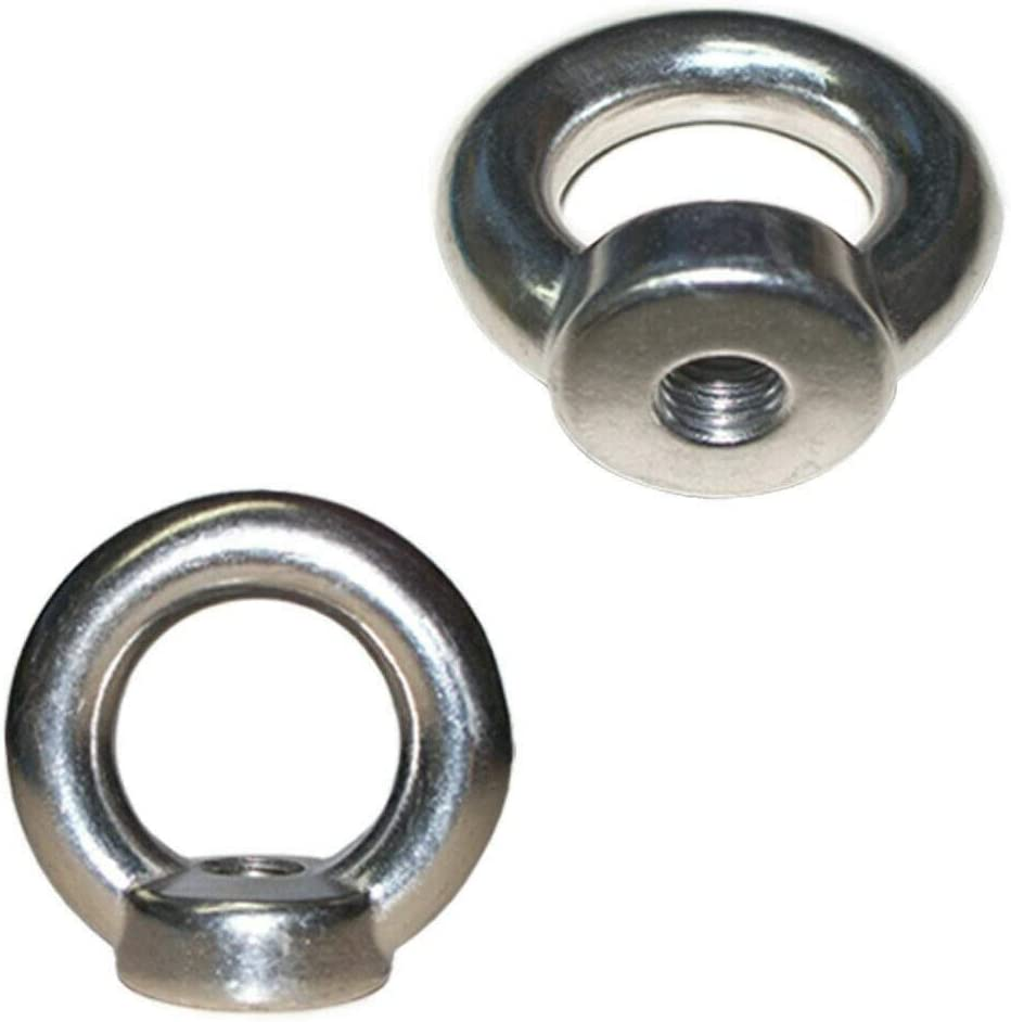 DBM IMPORTS Set of 5 PC 8 mm Din 582 Eye NUT Metric Thread Stainless Steel Marine 800 lbs