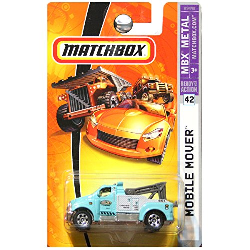 Matchbox 2008 MBX Metal Mobile Mover Tow Truck Holst Towing Aqua Blue (Mbx Mover)