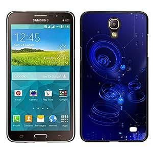 Samsung Galaxy Mega 2 / SM-G750F / G7508 Único Patrón Plástico Duro Fundas Cover Cubre Hard Case Cover - Ripple Blue Water Abstract Puddle