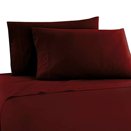 Astonishing The Great American Store Sleeper Sofa Sheet Queen Size 62X 74X 6 Deep Pocket Solid Burgundy 1800 Series Brushed Microfiber Bed Sheets For Sofa Creativecarmelina Interior Chair Design Creativecarmelinacom