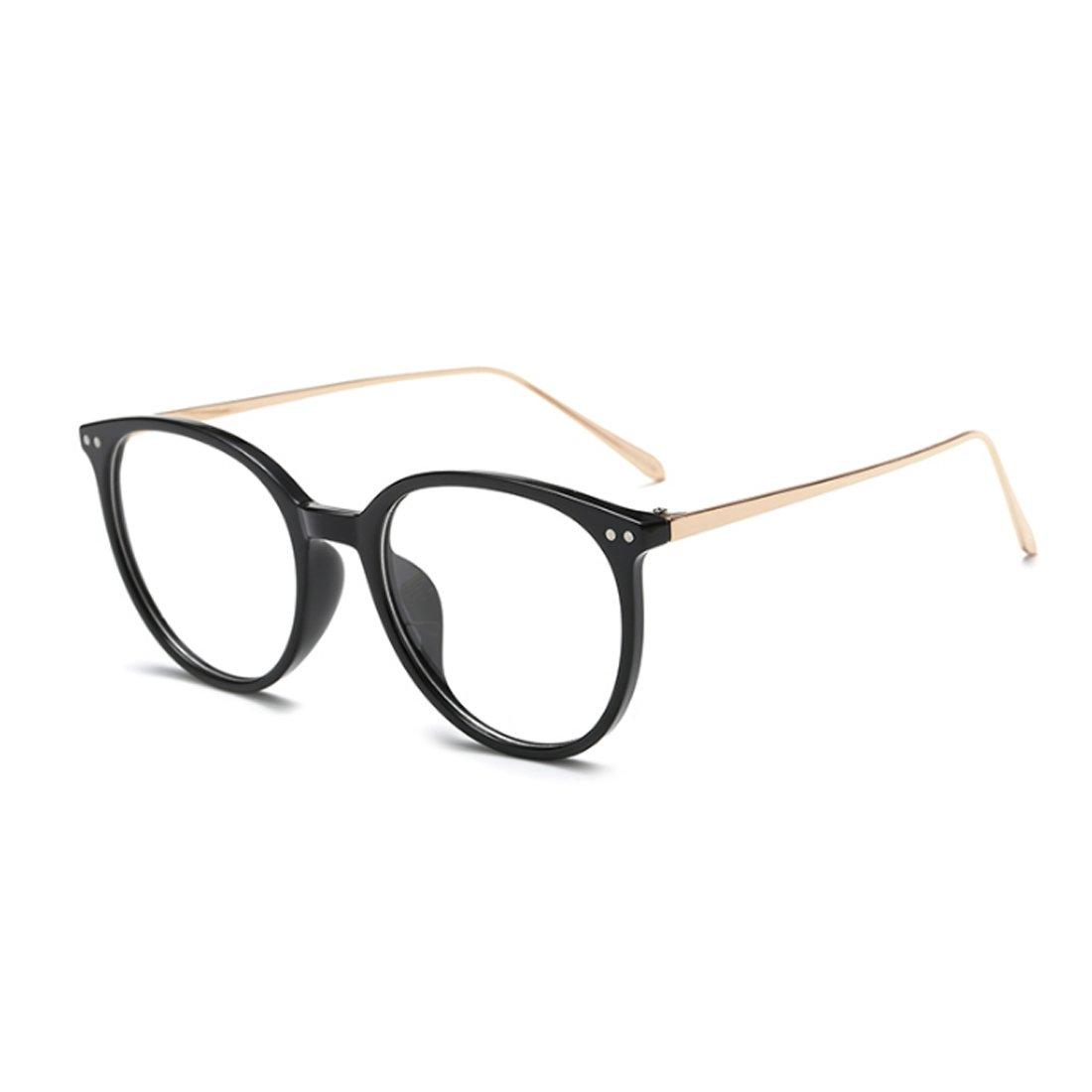 Aiweijia Vintage Gafas para la miopía Mujer masculina De moda Marco completo Gafas Lentes de resina de marco de metal