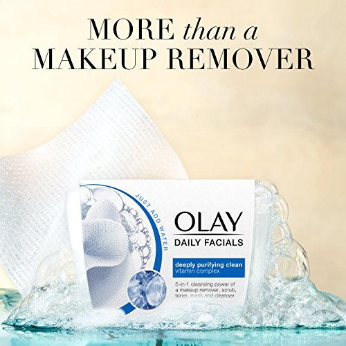 Olay Daily Facial Makeup Remover Wipes & 4-In-1 Water Activated Facial Cleanser Cloths, Deeply Clean 66 Count by Olay (Image #5)