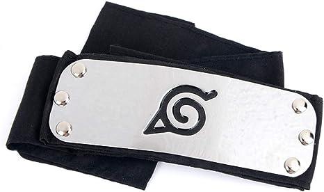 Beautymei Naruto Leaf Village Logo Headband Forehead Protector Shinobi Shippuden Ninja Cosplay Accessories(H02)