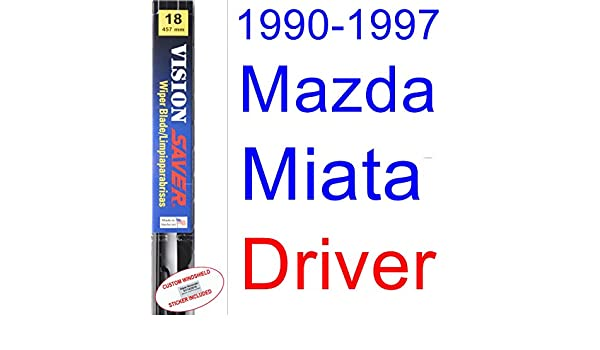 Amazon.com: 1990-1997 Mazda Miata Wiper Blade (Driver) (Saver Automotive Products-Vision Saver) (1991,1992,1993,1994,1995,1996): Automotive