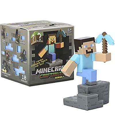 JINX Minecraft Craftables Blind Box, Series 1 (One Mystery Figure)