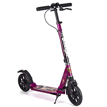 LJHBC Patinete Pedal de Adulto Plegable con Freno de Disco ...