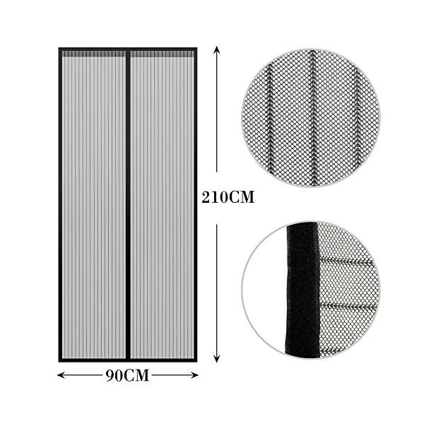 51%2B2fHURnQL Anpro Fliegengitter Tür Moskitonetz Tür 90 x 212CM, Insektenschutz Magnet Vorhang Fliegenvorhang für Balkontür…