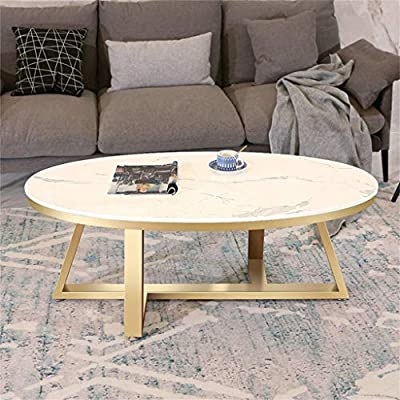 mesas de Centro Mesa de Centro Moderna Ovalada con sofá de Hierro ...