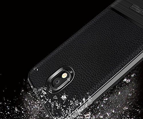 Funda Samsung Galaxy J3 2017,Funda Fibra de carbono Alta Calidad Anti-Rasguño y Resistente Huellas Dactilares Totalmente Protectora Caso de Cuero Cover Case Adecuado para el Samsung Galaxy J3 2017 A