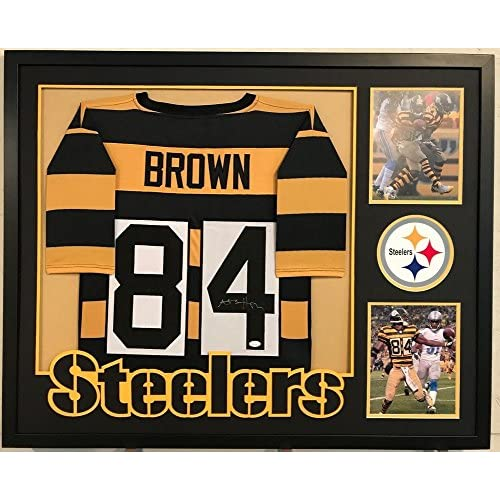 big sale ce79b 4e5b5 Antonio Brown Autographed Custom Framed Pittsburgh Steelers ...