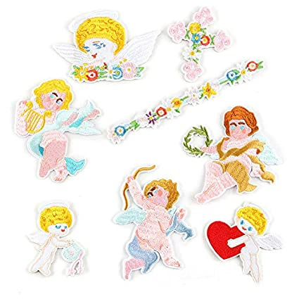 Amazoncom 8pcs Embroidery Fairy Cupid Baby Doll Angel Wings