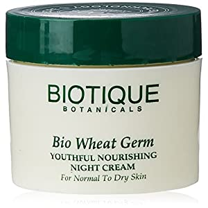 Biotique Wheatgerm Youthful Nourishing Night Cream for Normal to Dry Skin, 50g