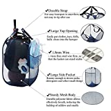 Mesh Laundry Hamper Collapsible Clothes Hamper, Pop Up Tall Laundry Basket for College Dorm Room Hamper, 2 Pack, 25.6 Inch Tall