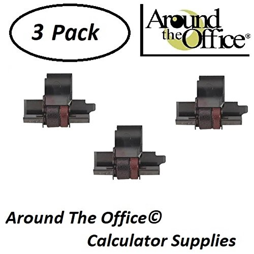 Around The Office Compatible Package of 3 Individually Sealed Ink Rolls Replacement for Victor 1228-2 Calculator by Around The Office