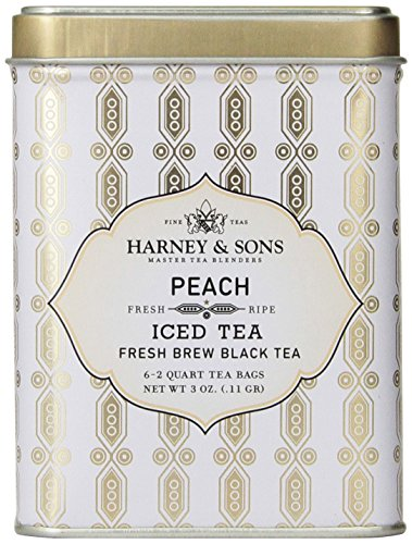 Harney & Sons Black Iced Tea, Peach, 6 Tea Bags (Best Fruity Mixed Drink Recipes)